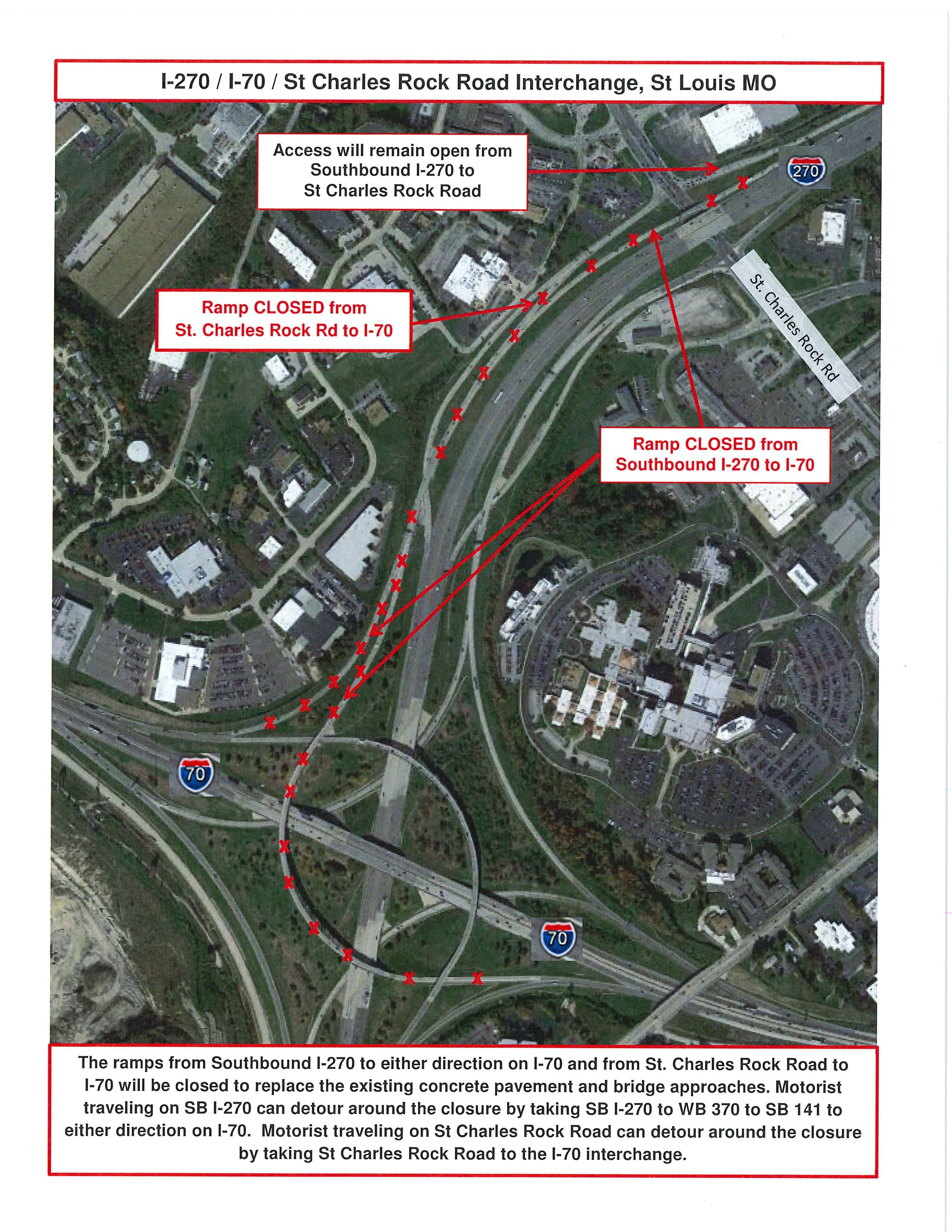 Southbound I-270 Ramp to I-70 Closure